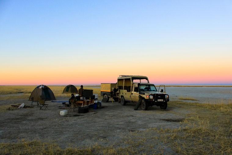 Botswana Makgadikgadi camping  by Henry Bell