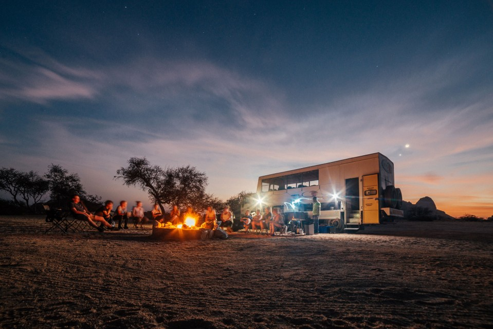 Southern africa camping