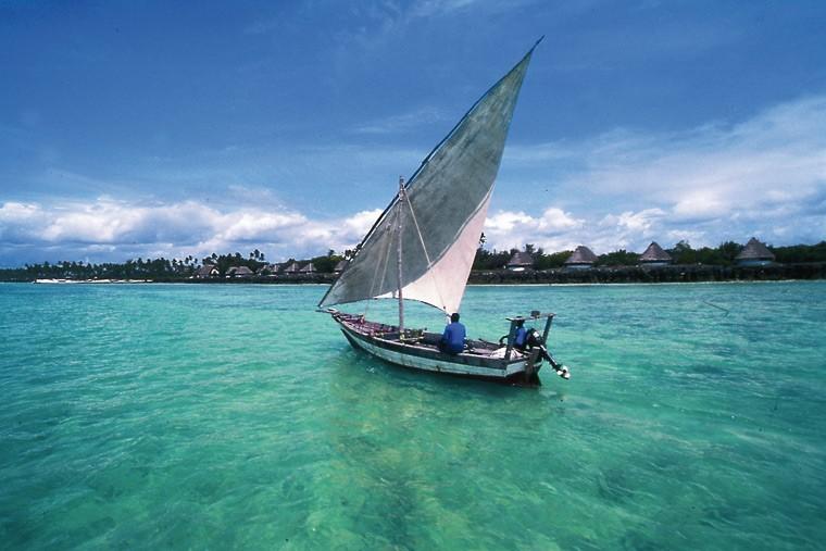 Mozambique dhow sailing