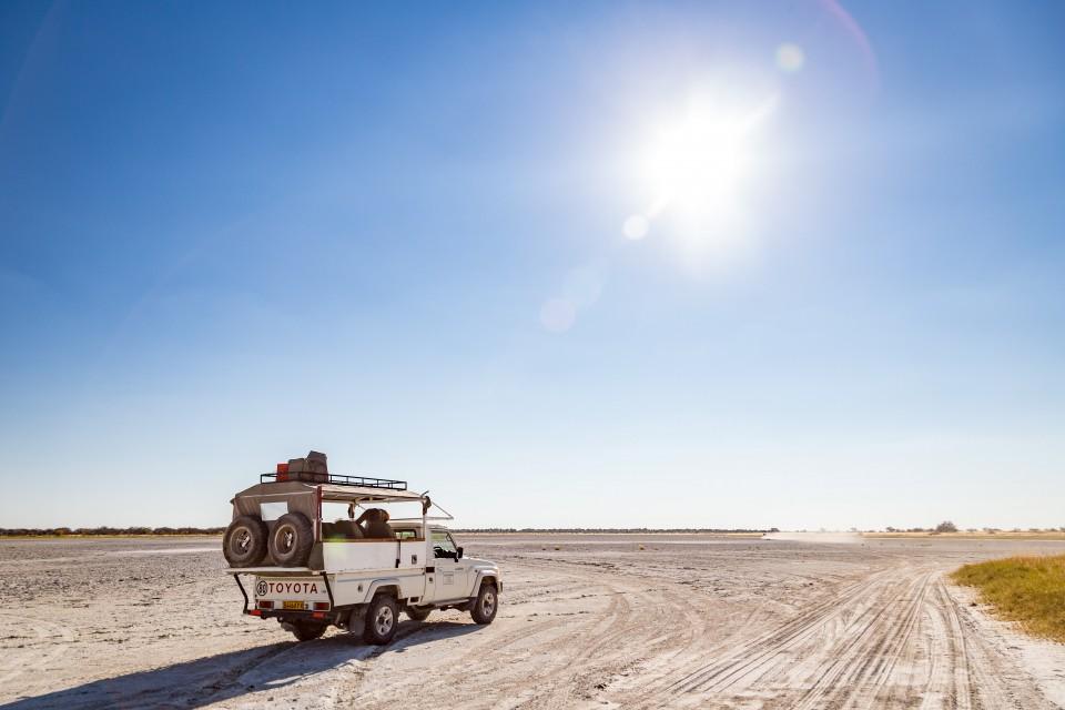 Botswana vehicle shot