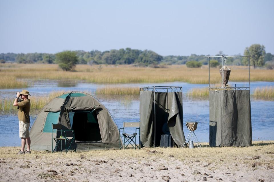 Camp along river