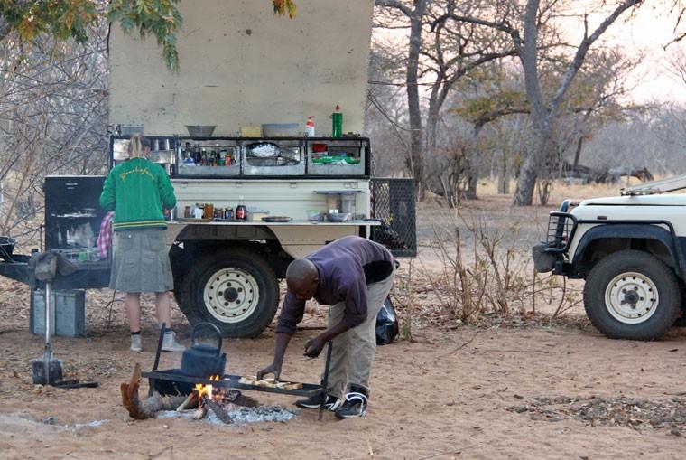 Chobe breakfast