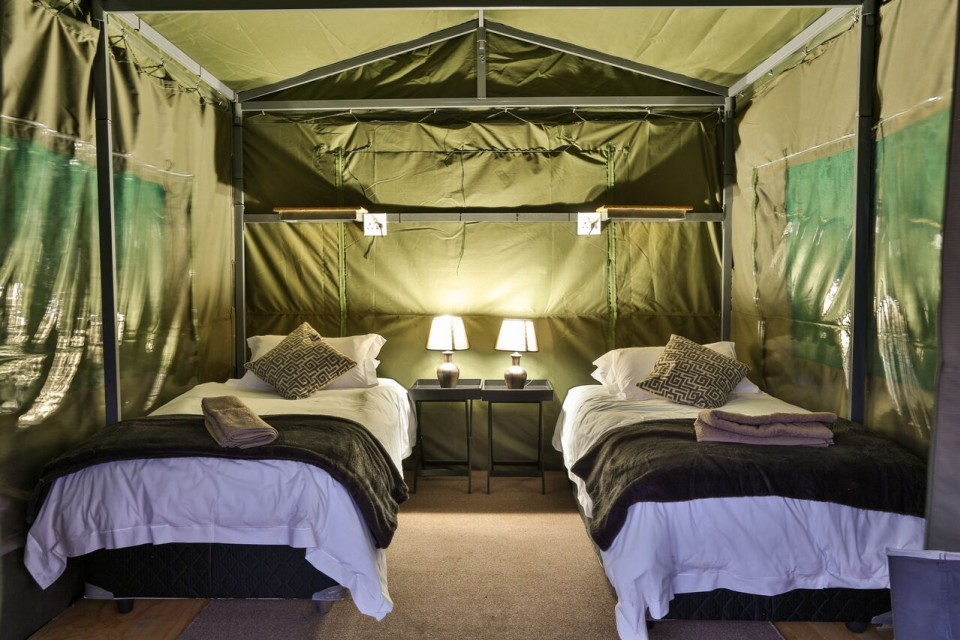 Safari tent inside
