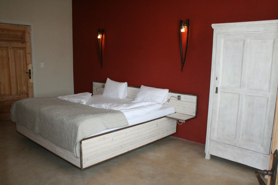Bedroom at hotel in swakopmund
