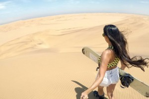 Sandboarding near Swakopmund