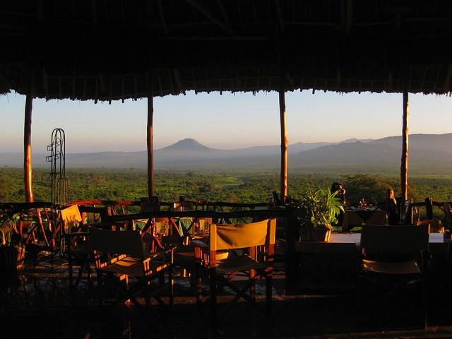 Tsavo lodge view