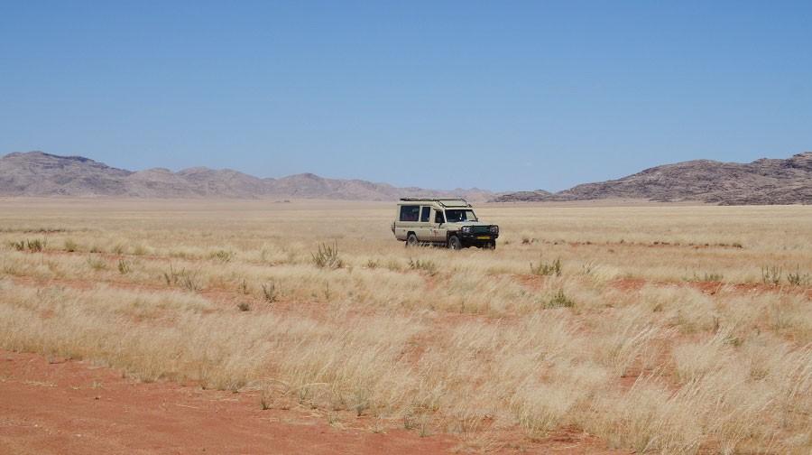Safari vehicle in Namibia