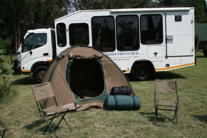 Truck and tent