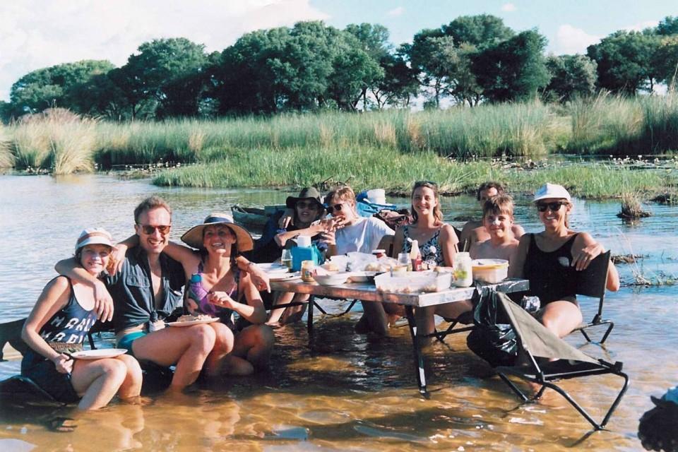 Botswana - delta lunch