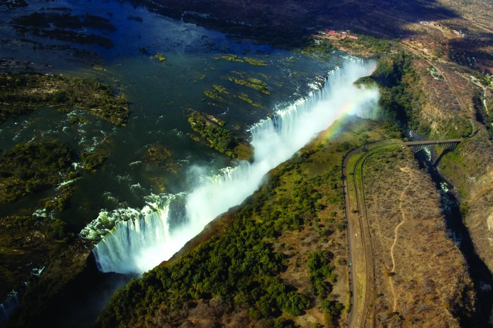 Aerial view of Vic Falls