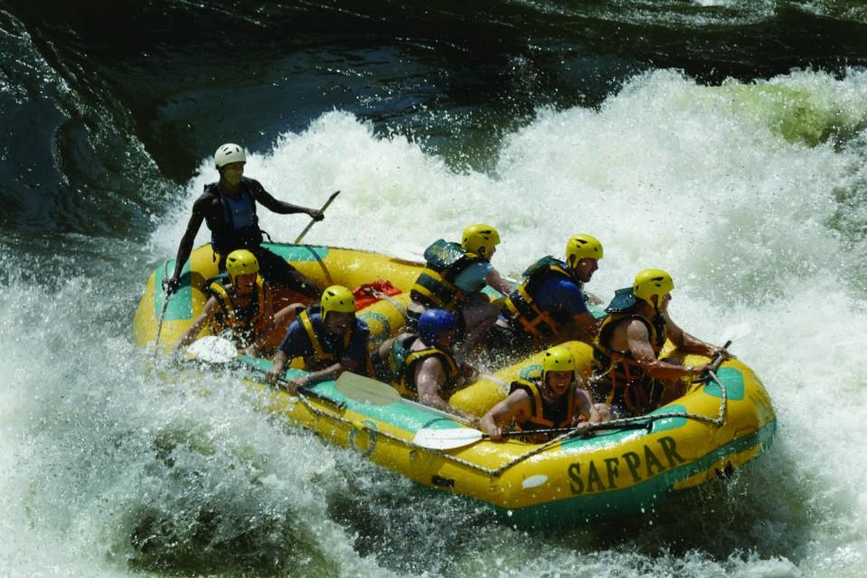 Rafting at Vic Falls