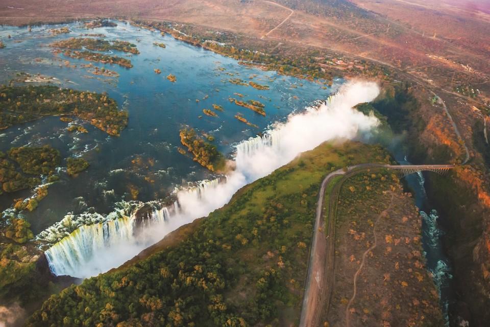 Victoria falls airial