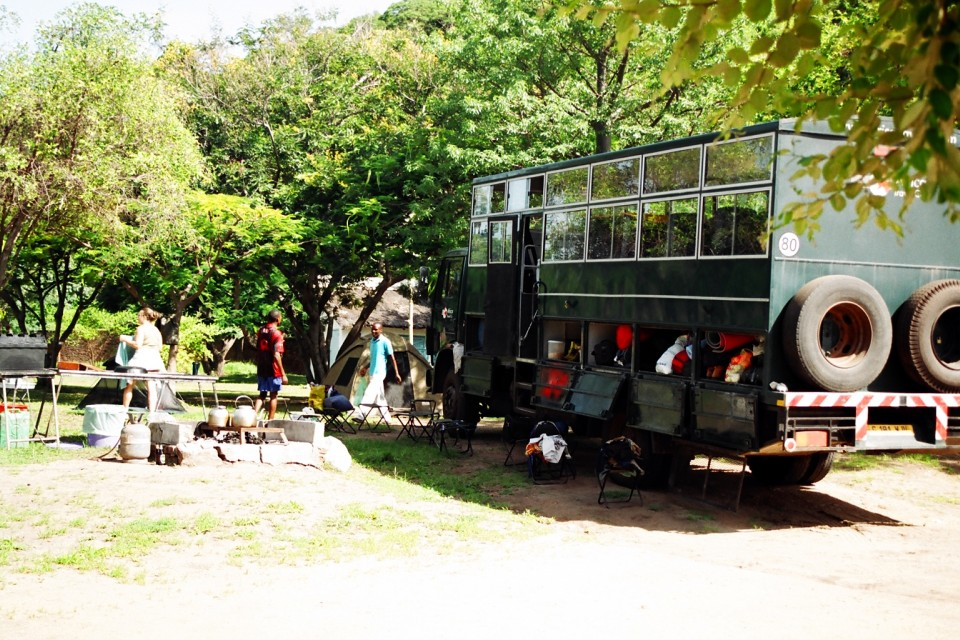 Truck - campsite malawi