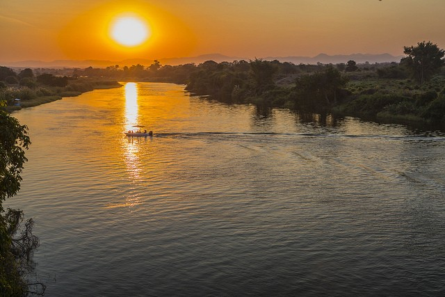 African sunset  by ninara