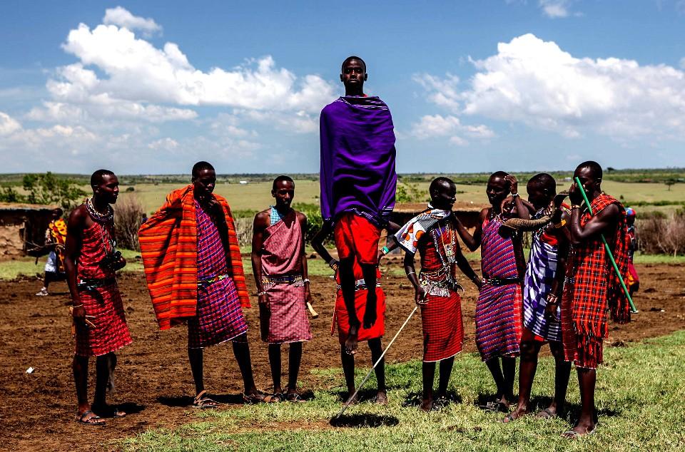 Maasai tribesmen  by Ninara