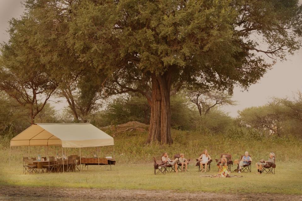Camp mess tent