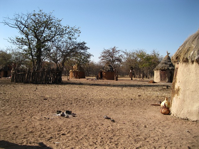 Himba Village  by Heather Cowper