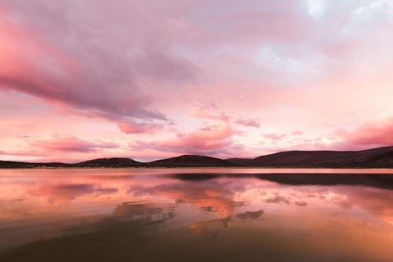 Aquila sunset