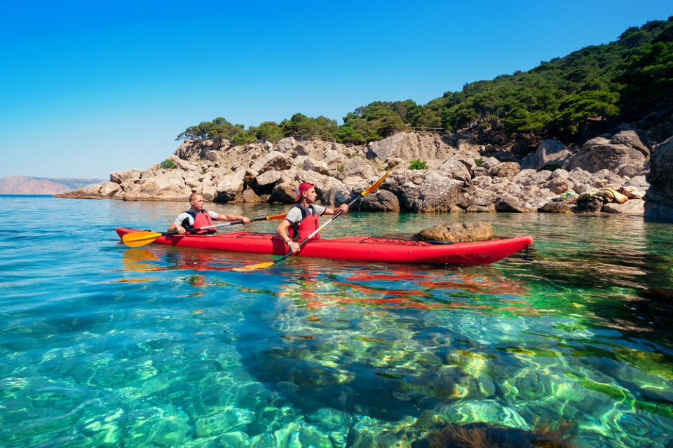 Kayak trip on Lake Malawi