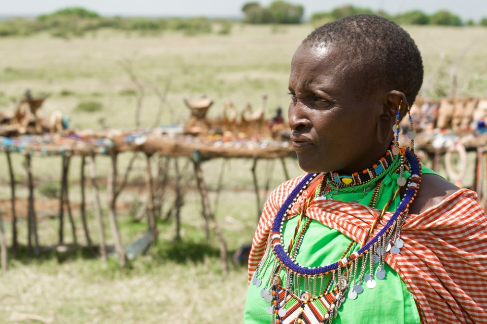 Maasai woman with traditional jewellery