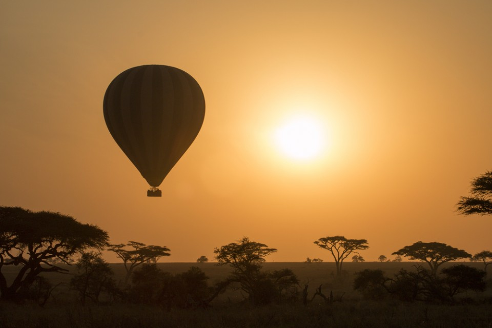 Balloon flight over the Serengeti