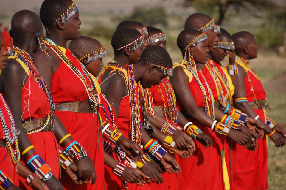 Maasai dancing  by Dylan Walters