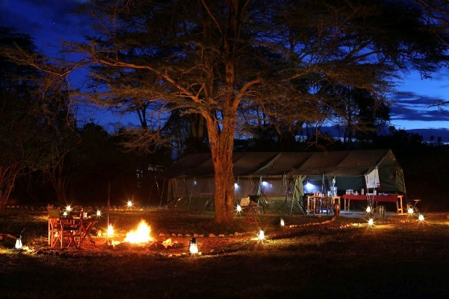 Ol Kinyei campfire