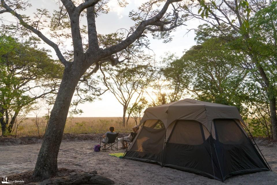 Liuwa camping