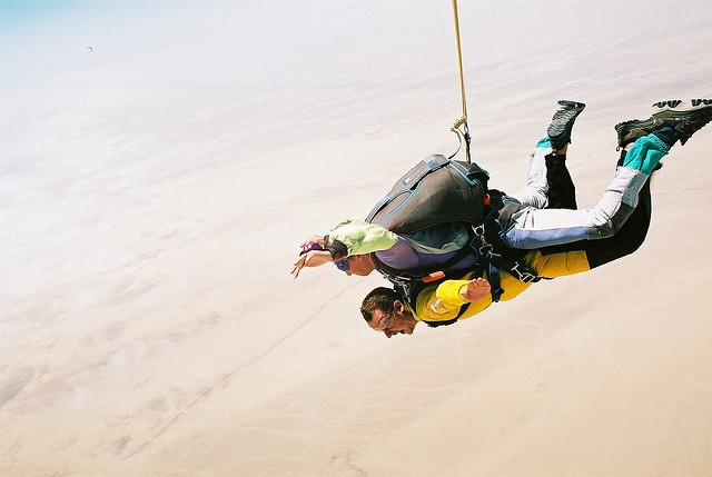 Swakopmund skydiving  by Mark Hills