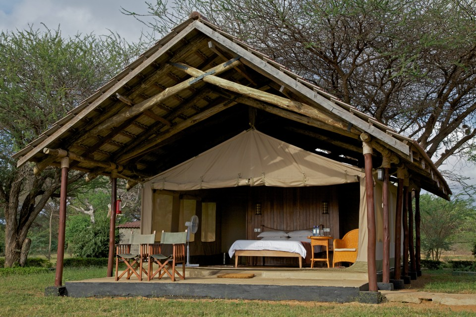 Typical accommodation in Amboseli