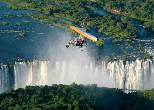Flight over the falls