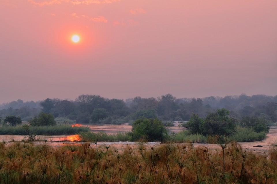 Okavango River sunset