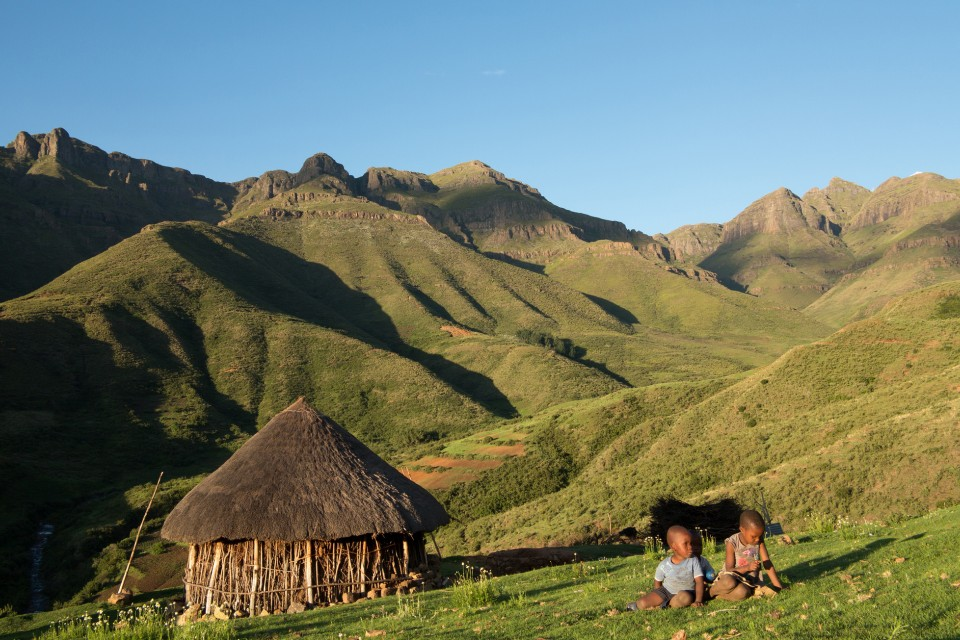 Lesotho hills  by Di Jones