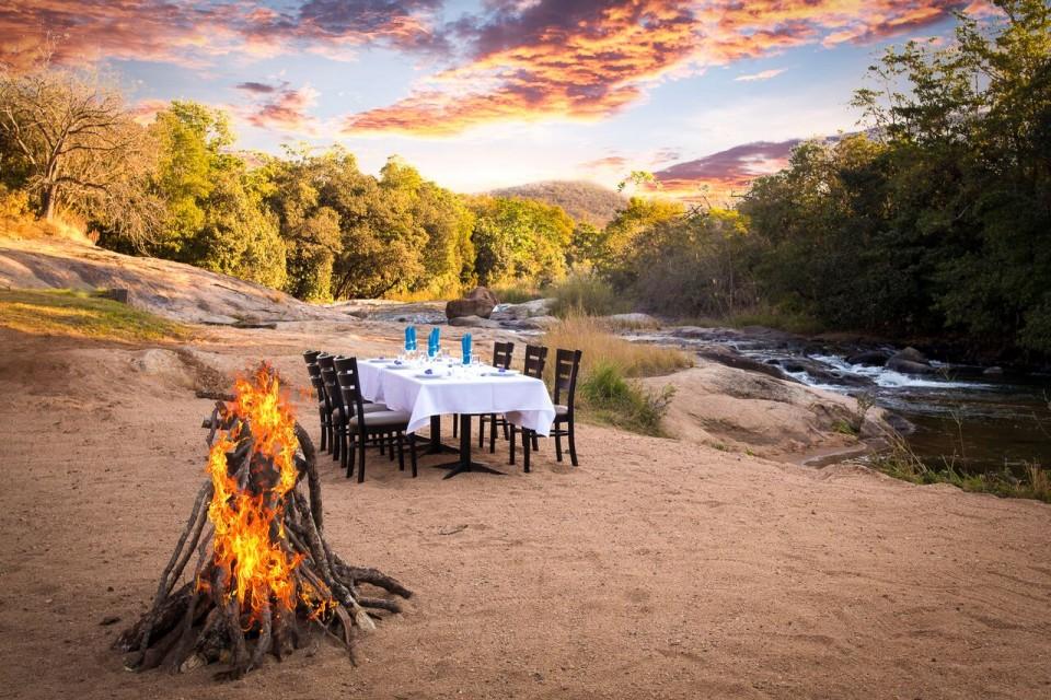 Dinner at the riverside