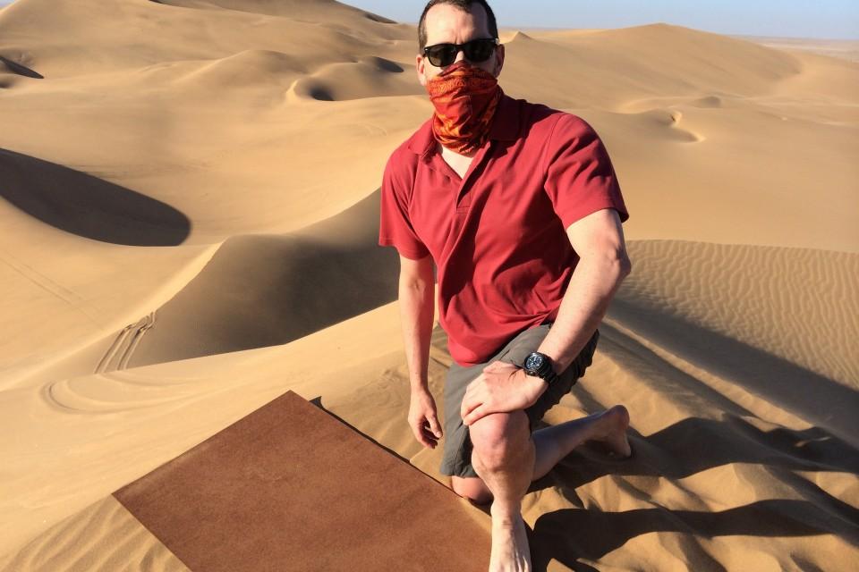 Sandboarding in Swakopmund  by Brian Holsclaw