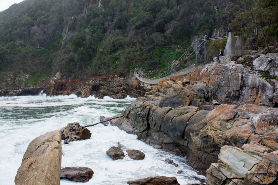 Storms River Mouth and suspension bridge  by Russell James Smith