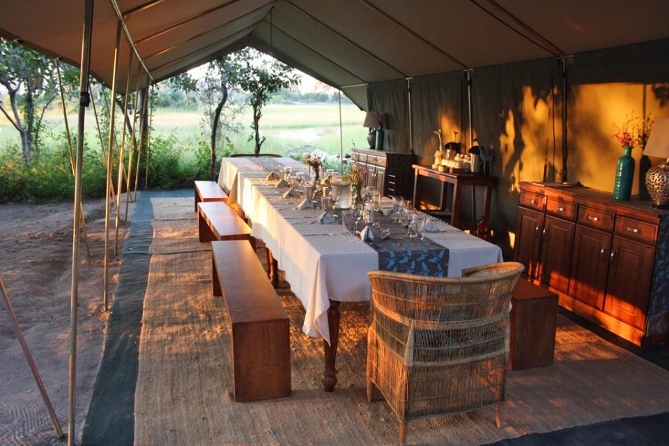 Camp dining area