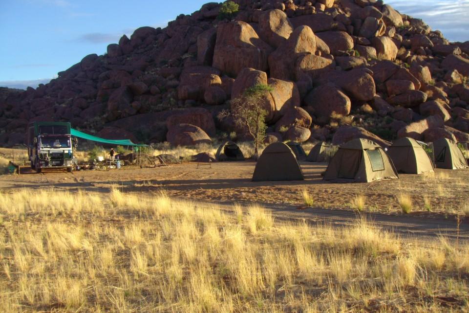 Namibia tour camping
