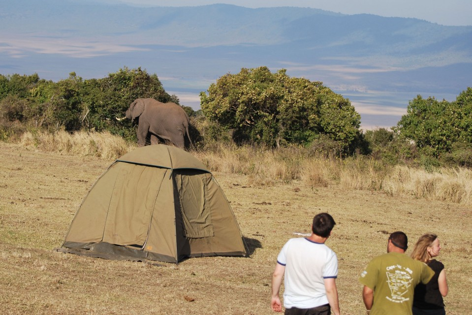 Camping at Ngorongoro Crater