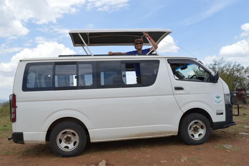 Custom-made tour van