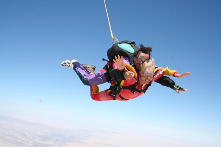 Sky diving Namibia