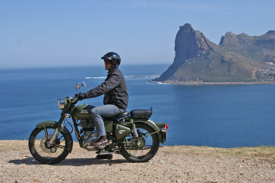Motorbike on Chapmans Peak Drive