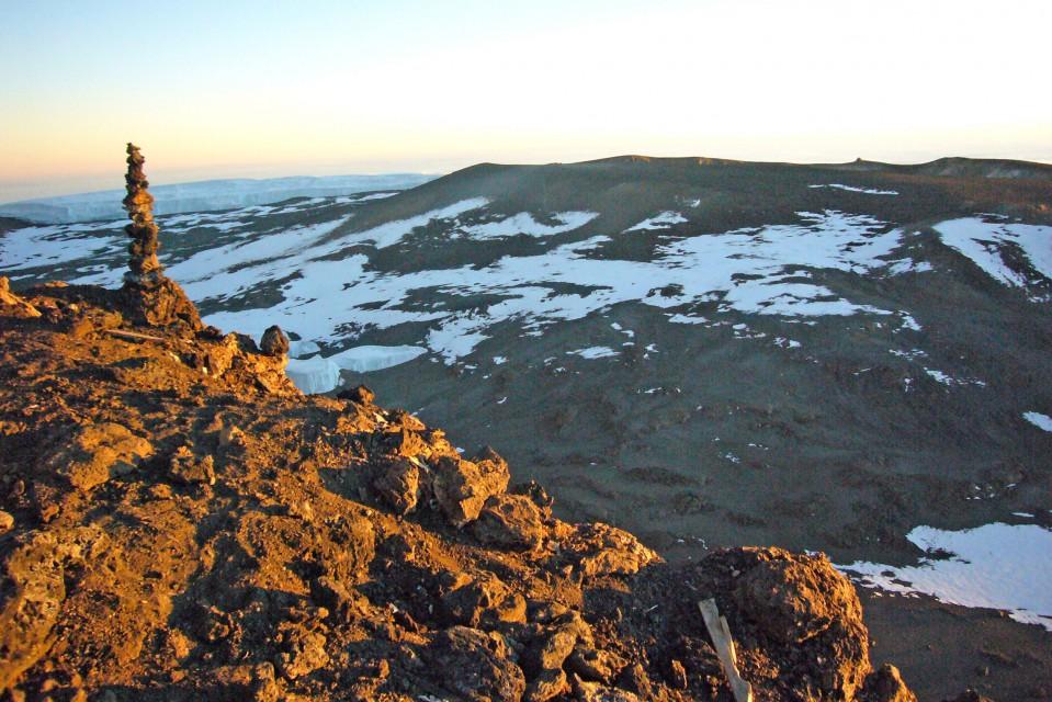 Kilimanjaro peak at sunset