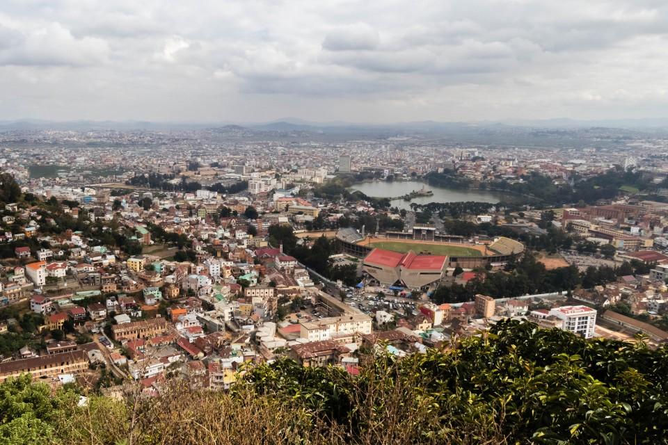 Antananarivo view  by Daniel De Lapelin Dumont