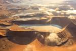 Aerial shot of Sossusvlei dunes