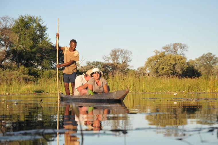 Mokoro in Okavango Delta Botswana