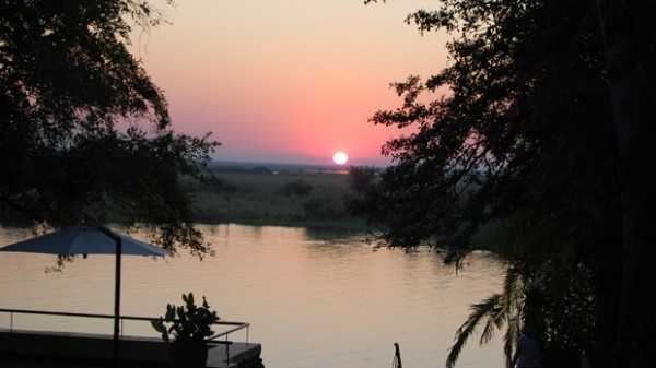 Okavango river sunset