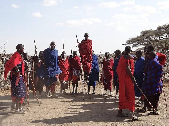 Maasai dancing  by Digital Aesthetica
