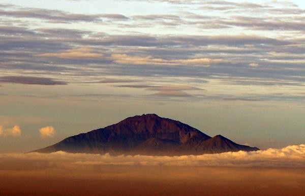 View of Mt Meru, Tanzania