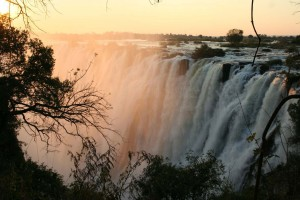 Sunset vic falls